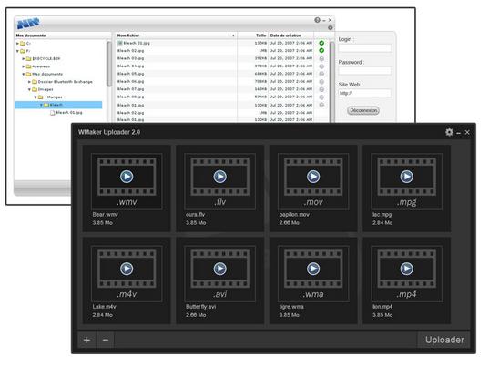 uploader former and new version