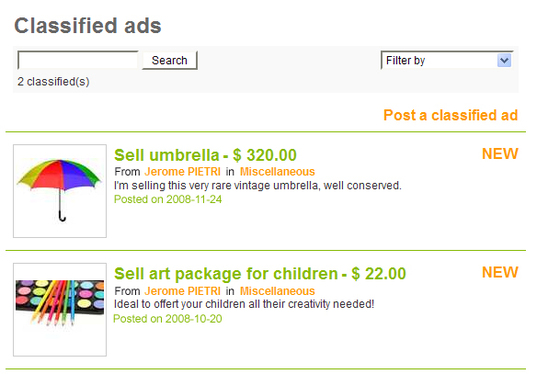 Your New classified Ads!