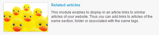 Related Articles module: boost the number of viewed pages of your site