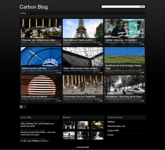 Carbon Template for Blog+