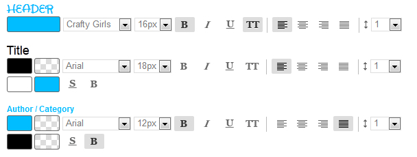 New interface of fonts setting