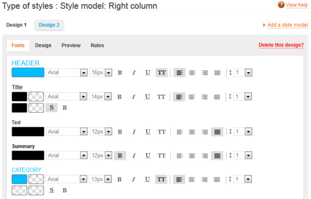 Type of style: a little known but very useful tool