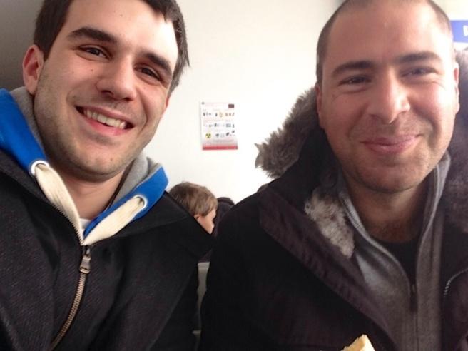 In lyon, Jérôme and Dumè :)