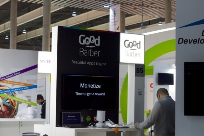 The GoodBarber booth