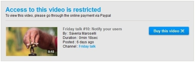 Restriction and micro-paiement for WebTV