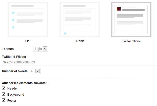 New features for the module Last Tweets