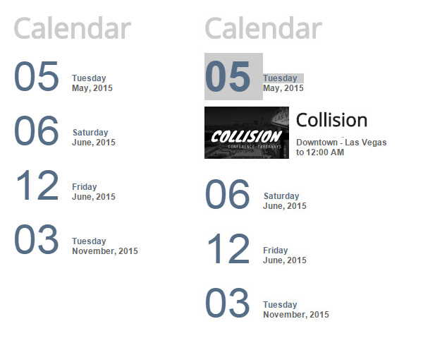 New Calendar Module