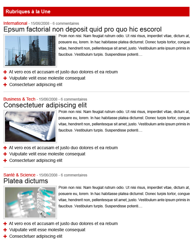 16/9 headlines section