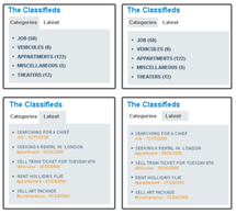 Emphasize your classifieds