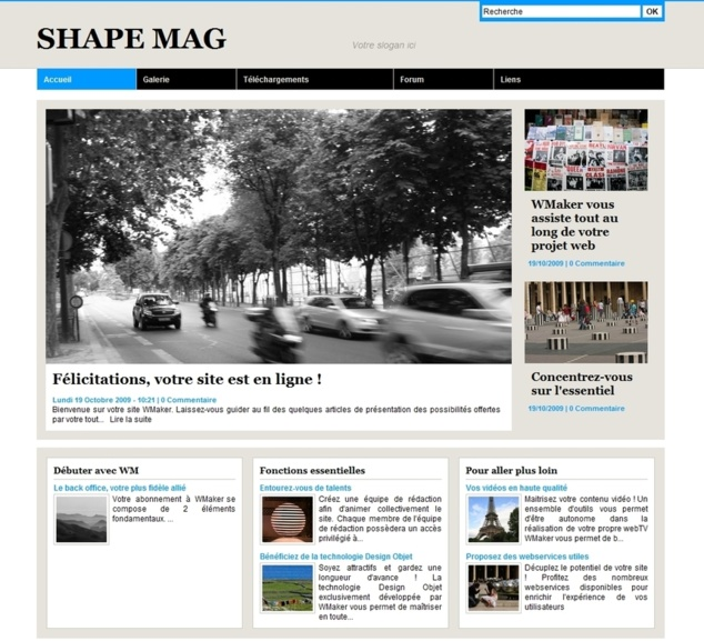 Shape Mag Template