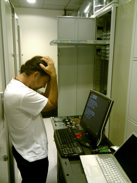 Greg configuring new servers