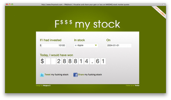 Have Fun with F$$$ My Stock!