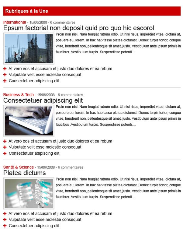16/9 headlines section