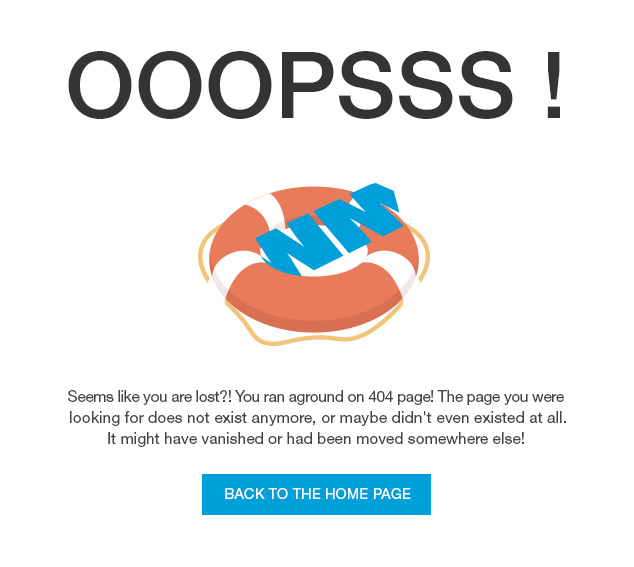 Even the 404 page is customizable!