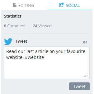 Custom your tweets and urls when posting an article