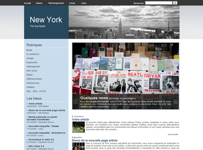 New NY Template and New Headlines module