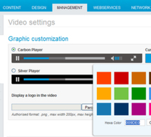 Customize the design of your video player
