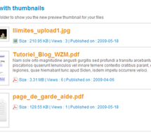 Files to download : automatic generation of thumbnails